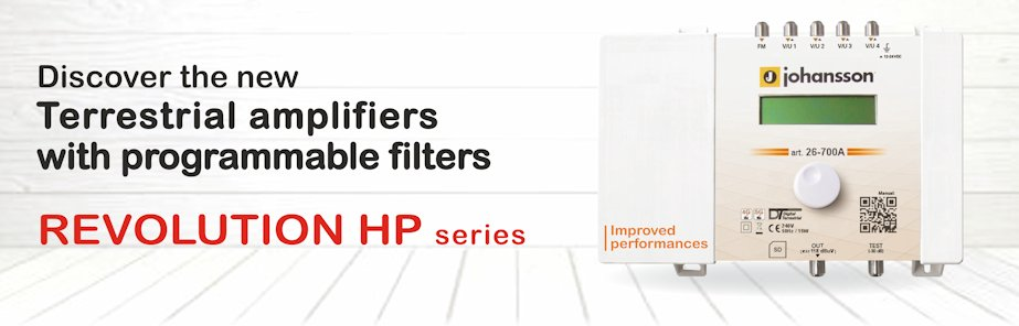 Terrestrial programmable filters amplifier REVOLUTION HP series